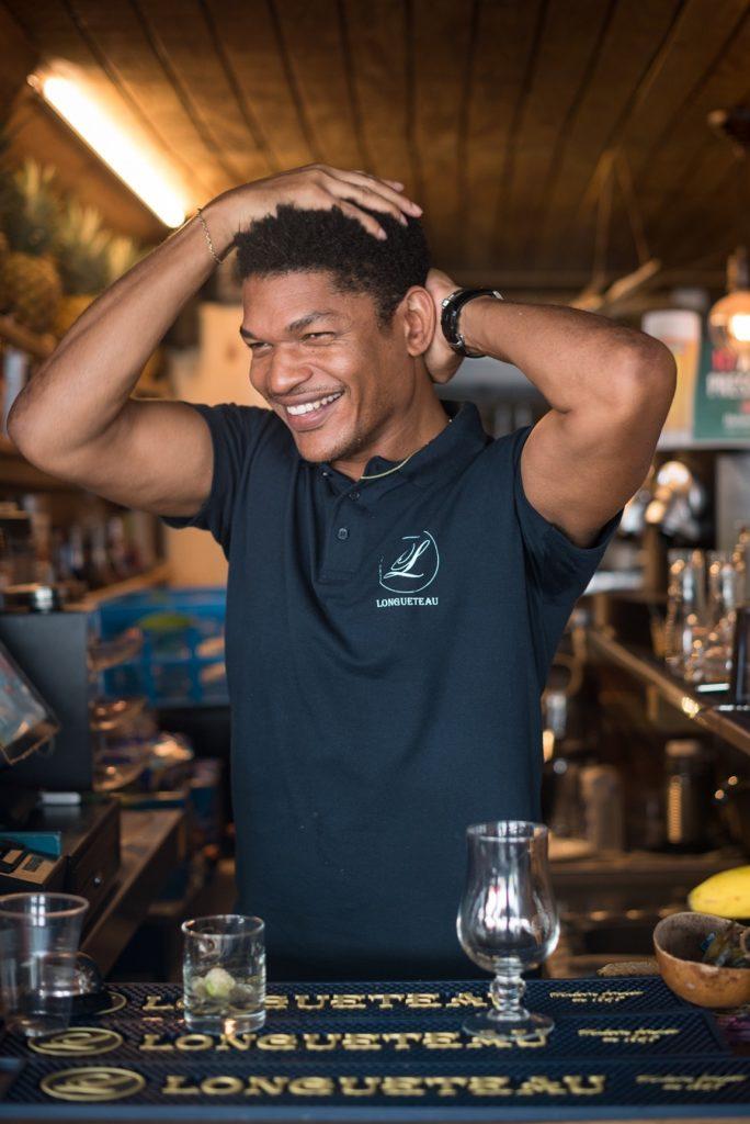 Rainer Boucard, barman et propriétaire du restaurant Bliss au Gosier