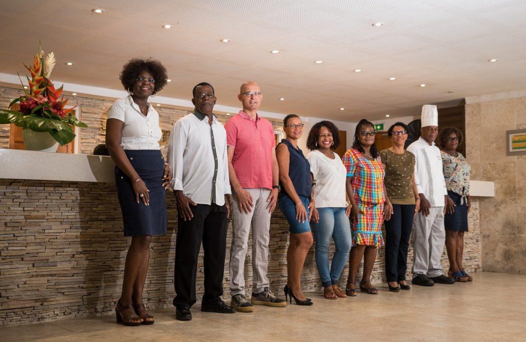 Personnel de l'hôtel Fleur d'épée au Gosier en Guadeloupe
