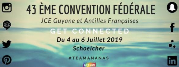 Visuel de l'événement Get Connected organisé par les JCE de Guyane et Antilles Françaises