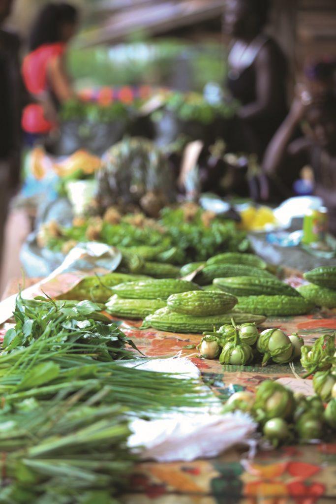Légumes au marché Hmong de Roura