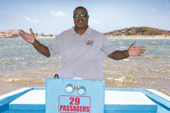Vanion Hodge, passeur de l'îlet Pinel à Saint-Martin