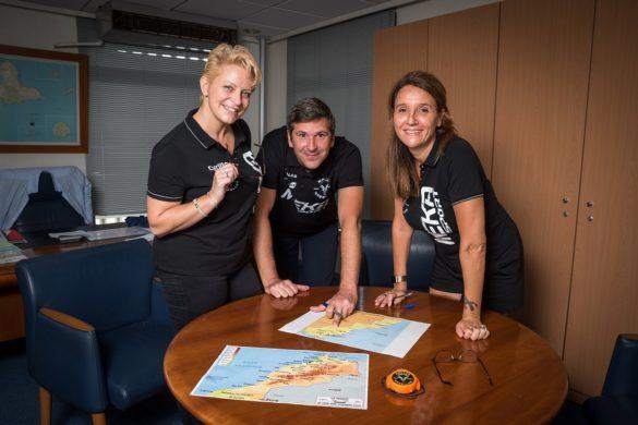 Nicholas Hollanders de la BRED, Sofia Rateau et Cyrille Kayser de Mékasport