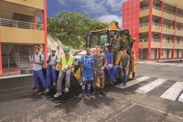 Jeunes formés au pôle BTP du RSMA Martinique
