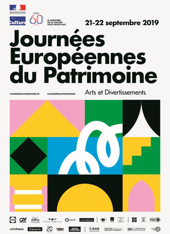 Visuel des Journées Européennes du Patrimoine 2019