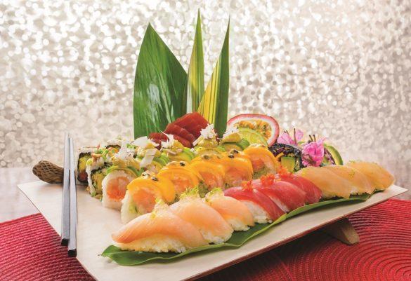 Plateaux de sushis et makis de chez Sushi Péyi