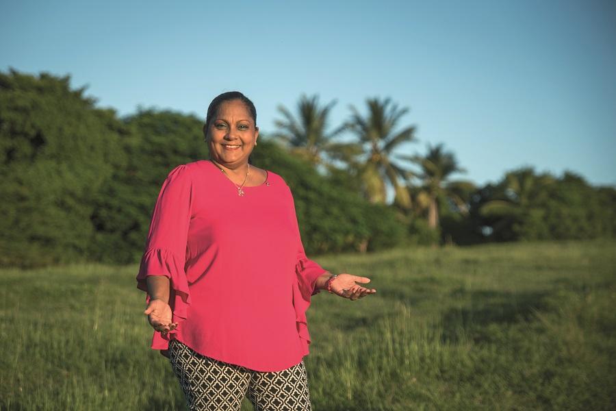 Olivia Ramoutar, élue communautaire de la CARL en Guadeloupe