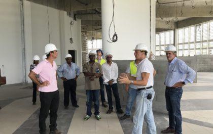 Visite de Contact-Entreprises sur le chantier du lycée Schoelcher