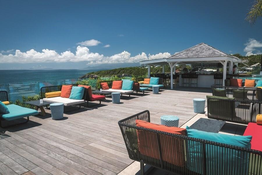 Terrasse du restaurant de l'hôtel La Toubana