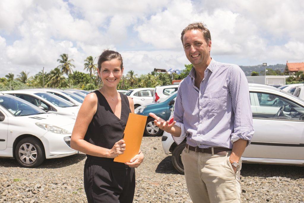 Alizée Pin et Thomas Guyonnet-Duperat de l'entreprise de gardiennage automobile Parc-Man
