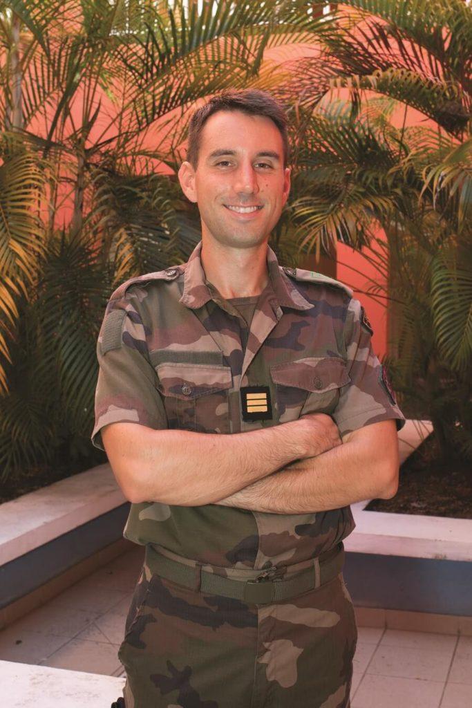 Le capitaine Thomas du RSMA Martinique, responsable du pôle de formation Transport, Maintenance, Logistique