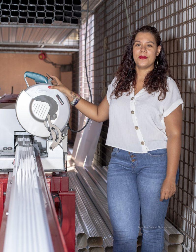 Angélique Prévoteau - entreprise Caraibes Gouttières - label Produit En Guyane