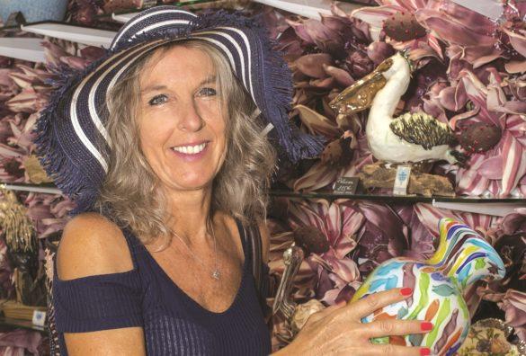 Muriel Dumont, gérante de la boutique Flamengo à Saint-François