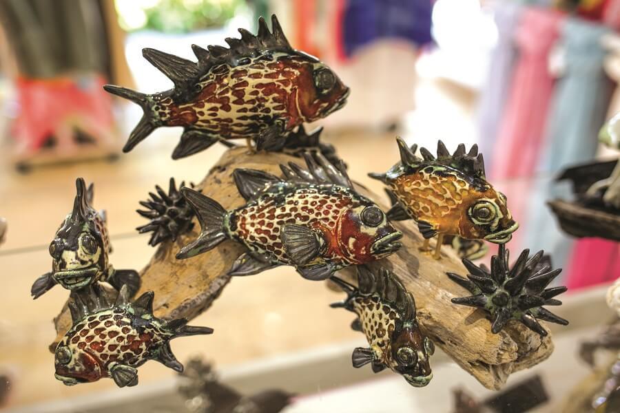 Poissons en céramique - boutique de décoration Flamengo - Saint-François en Guadeloupe