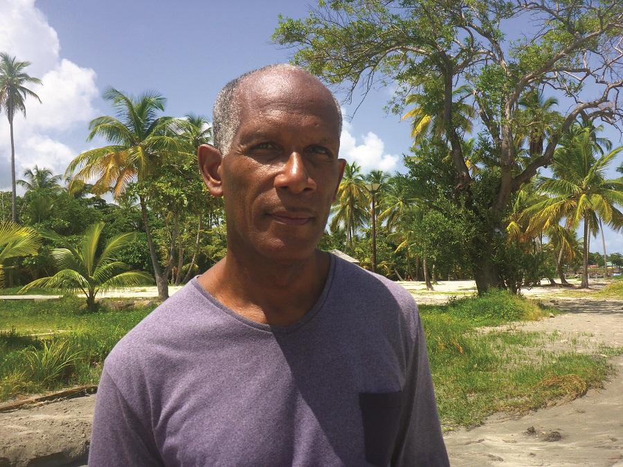 Eddy Isaas, éducateur spécialisé aux ateliers de Matouba