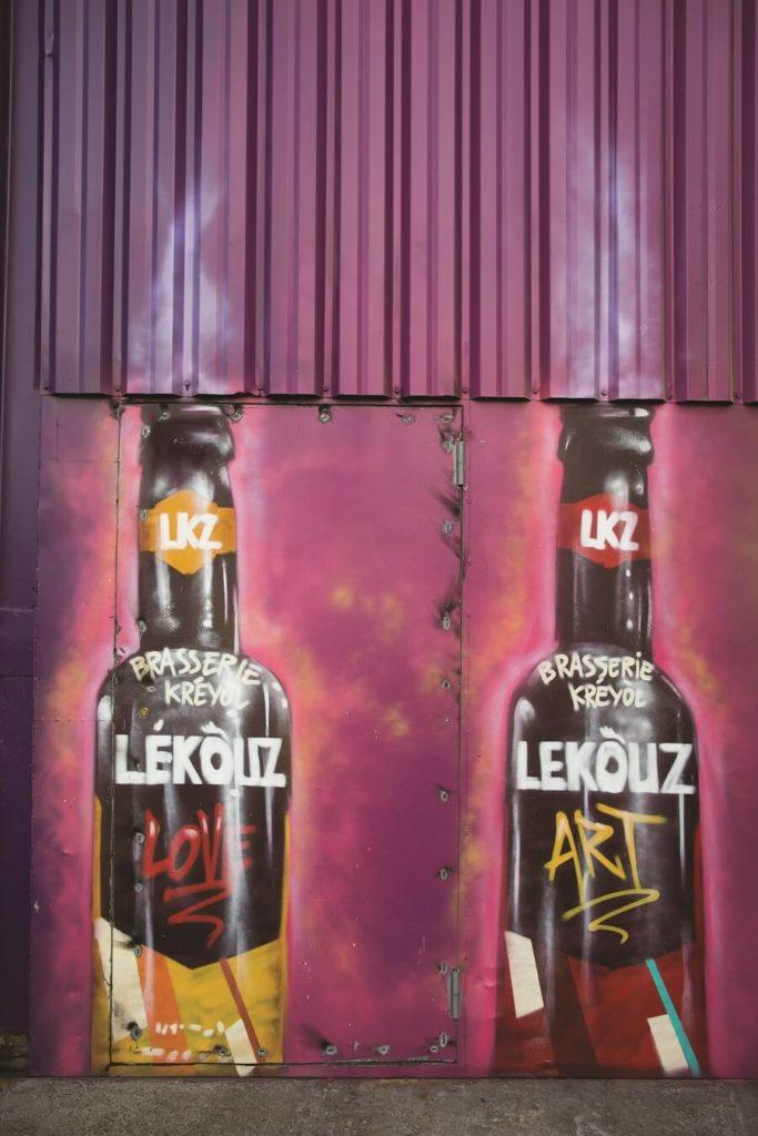Fresque murale brasserie Lékouz
