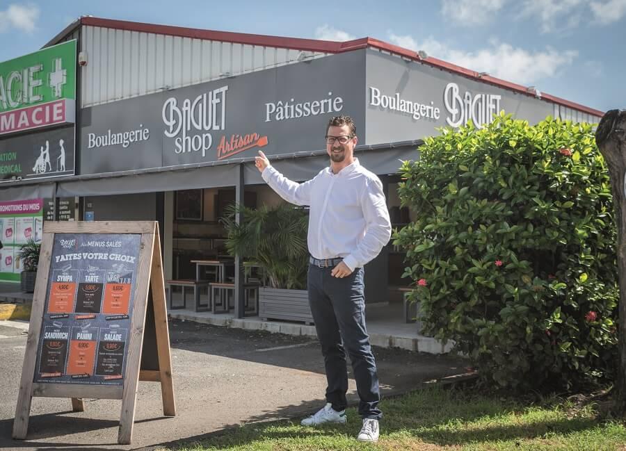 Sebastien Didier, responsable Baguet Shop en Guadeloupe
