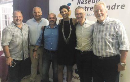 Présidente de Réseau Entreprendre Guadeloupe et membres accompagnateurs