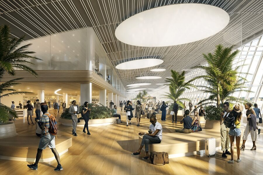 Projection aéroport Guadeloupe Pôle Caraibes 2025