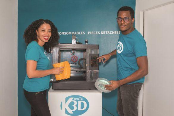 Estelle Hilaire et William Caster - créateurs Karaib 3D - impression 3D en Martinique
