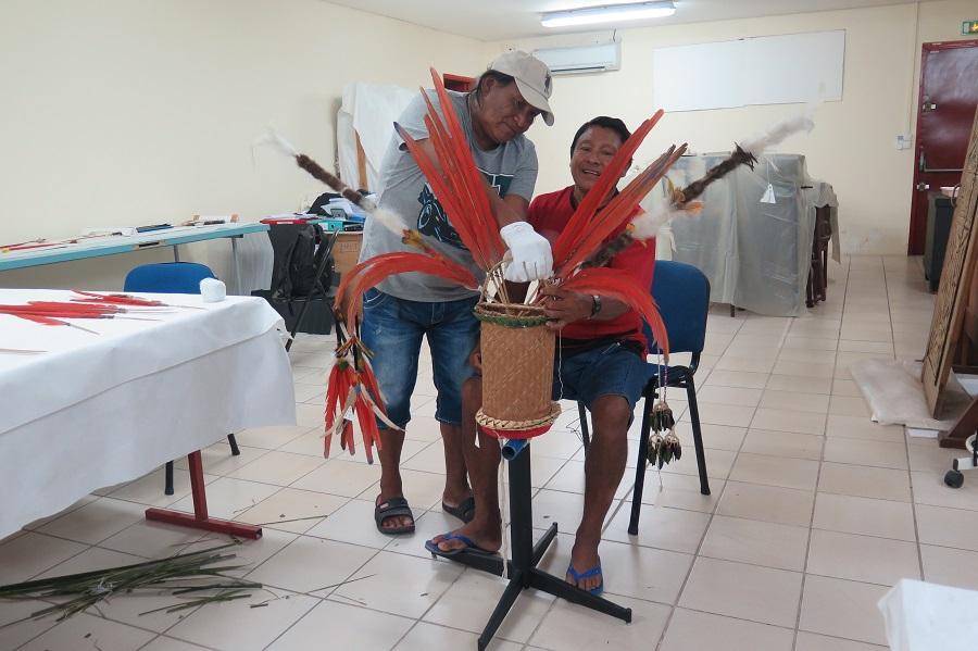 Atelier de transmission cutlurelle - projet SAWA - Guyane