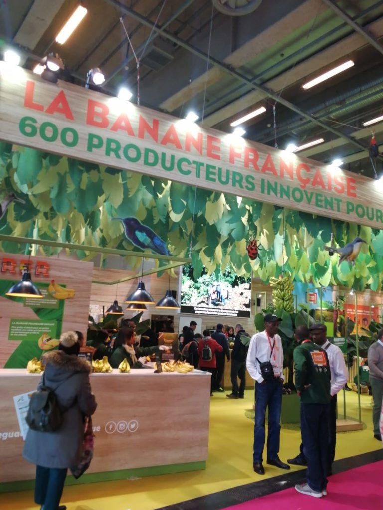 Stand Bananes de Martinique et Guadeloupe - Salon de l'agriculture 2020