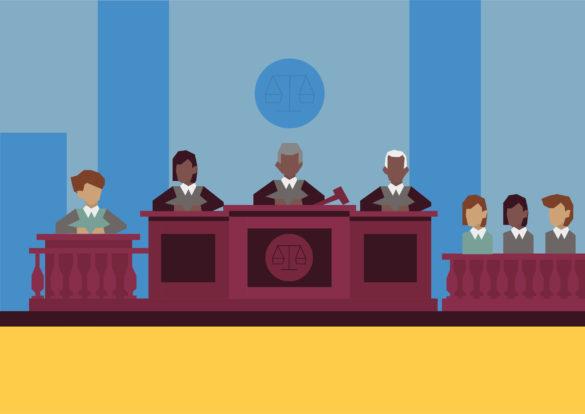 cour de justice illustrée