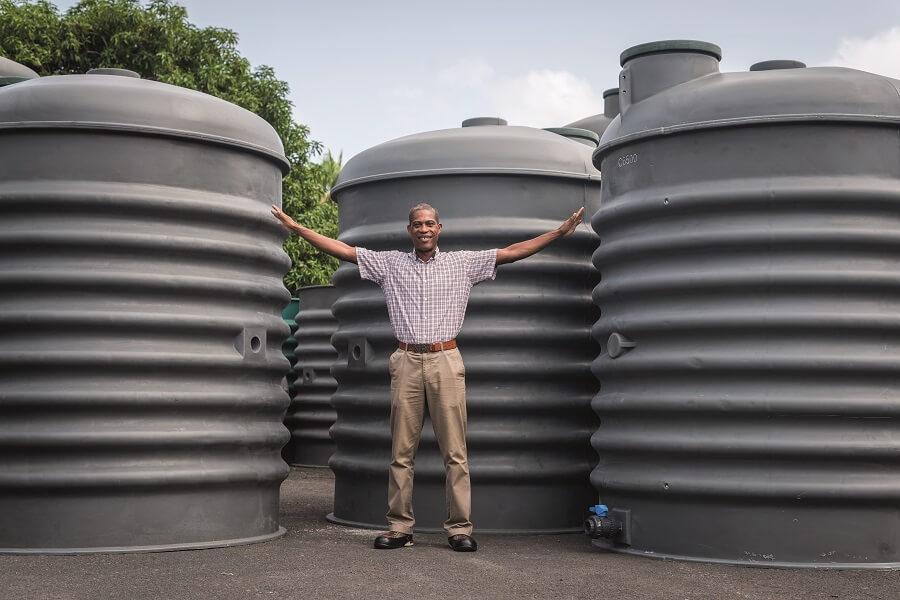 Citernes eau de pluie PROCAP Guadeloupe