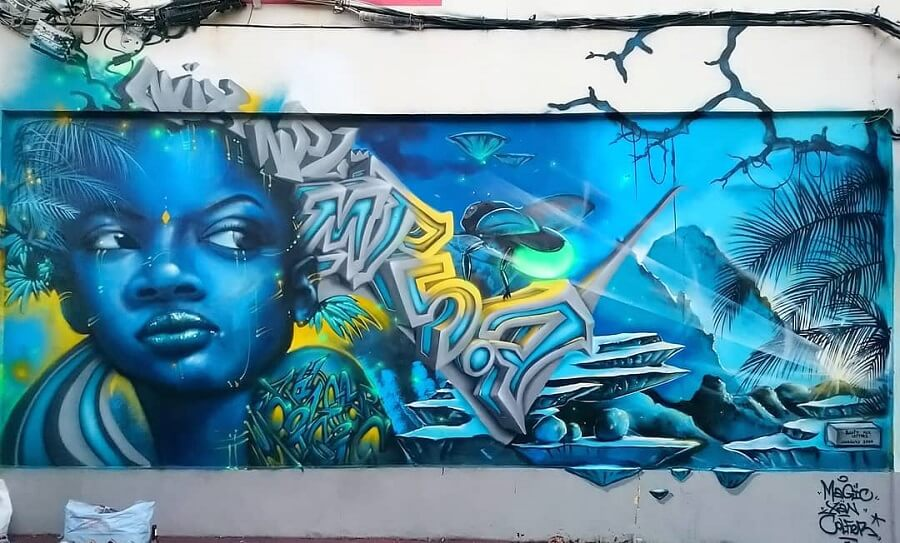 Fresque Bètafé - Magic, Colfer, Xän - Fort-de-France