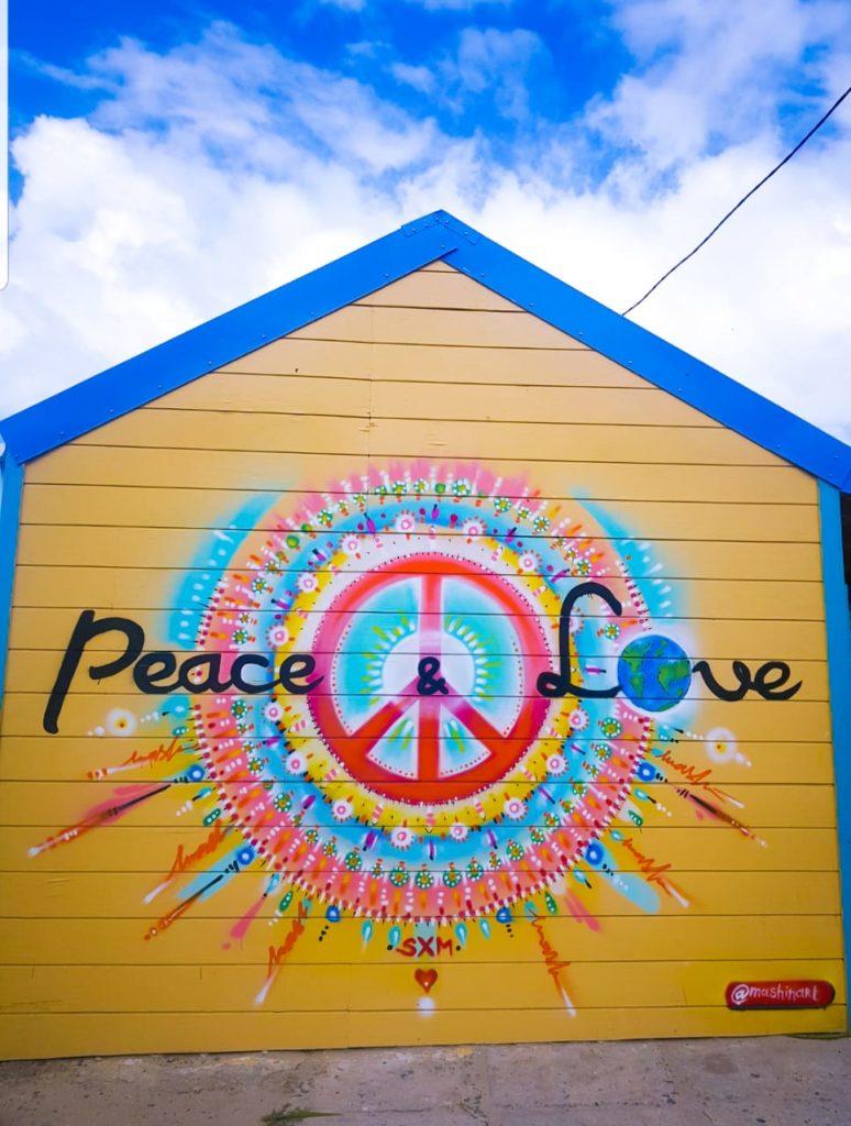 Fresque Peace & Love - Mash - St Martin