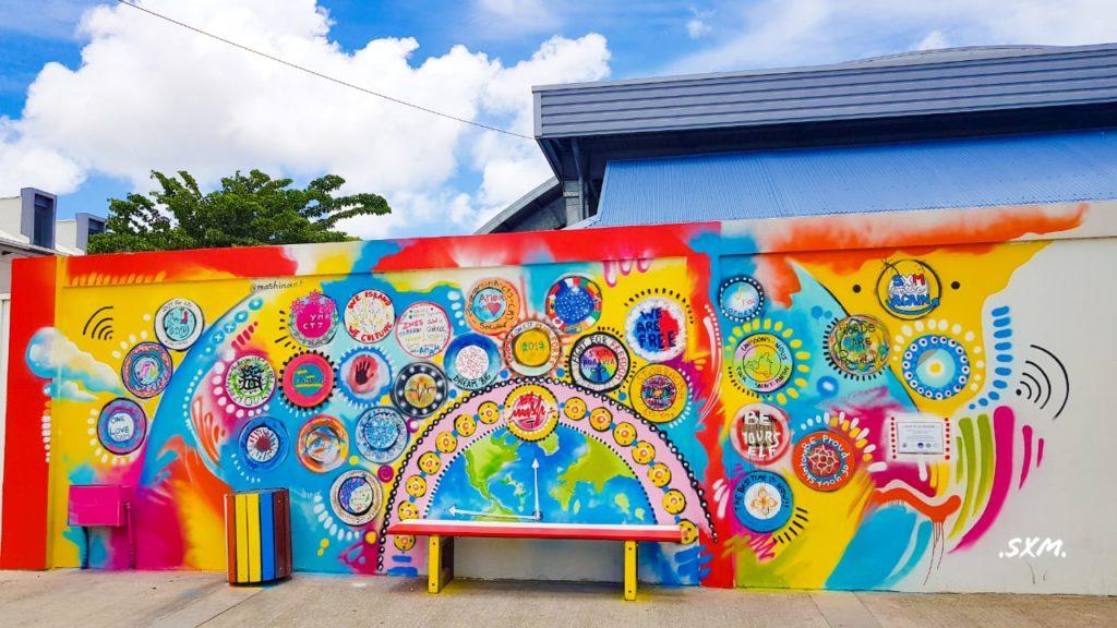 Fresque collaborative - @mashinart - St Martin