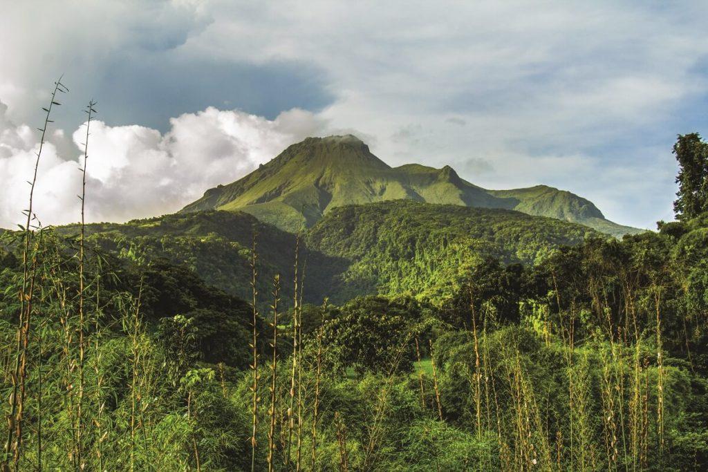 Montage Pelée - Volcan Martinique