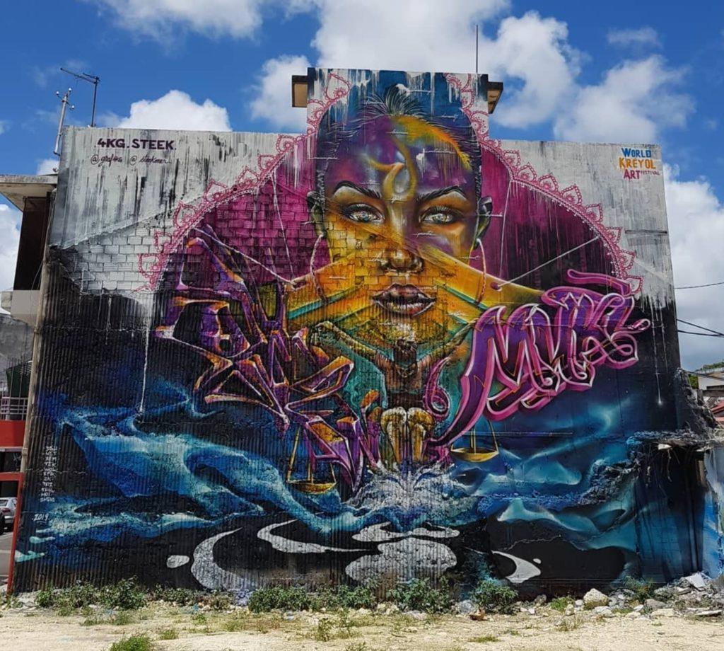 Fresque Steek et Collectiv 4KG - Guadeloupe