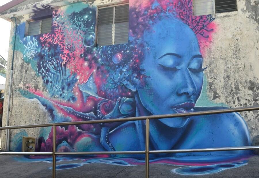 Fresque Manman Dlo - Xän - Basse-Pointe