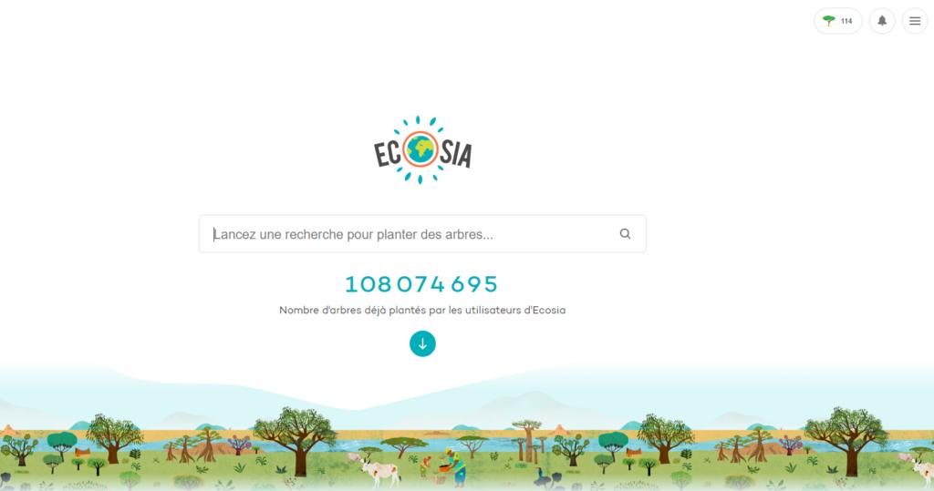 Ecosia moteur de recherche écologique