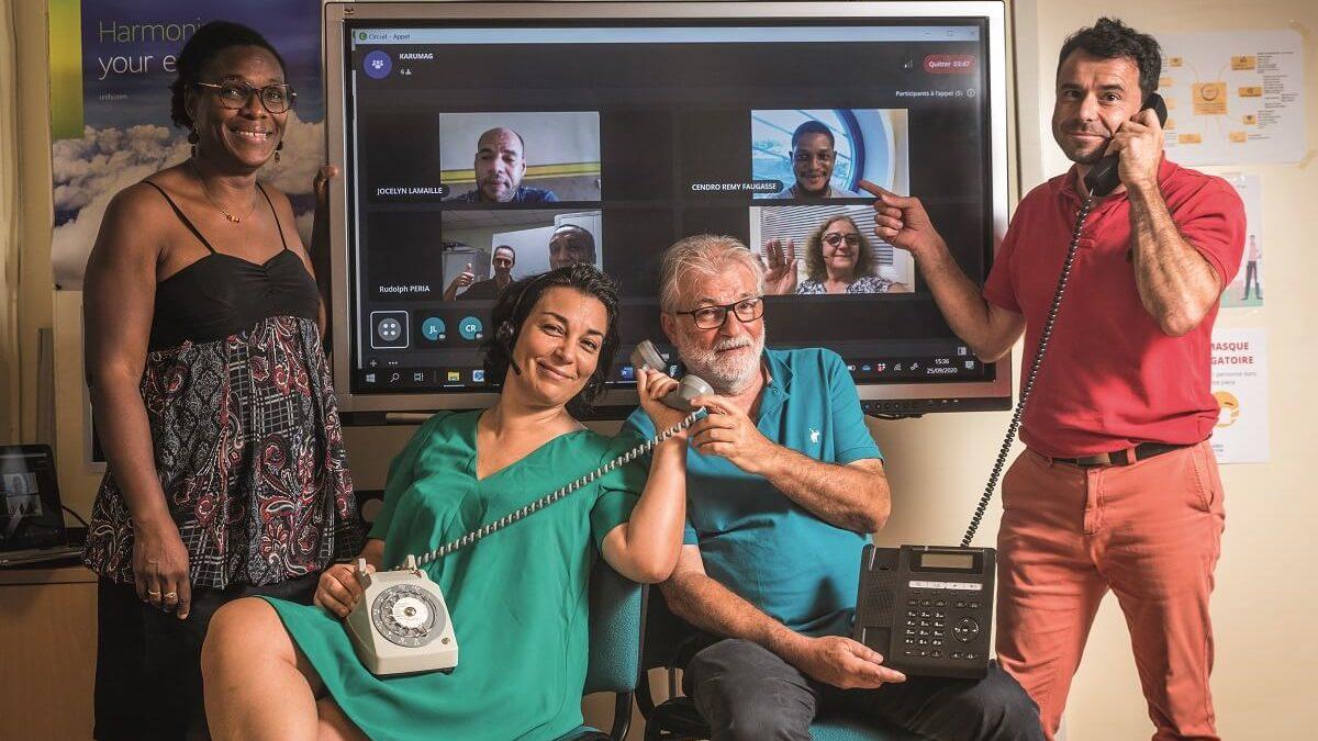 Caraïbes télécom, des solutions collaboratives qui facilitent le télétravail