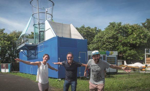 Denis Beau et les créateurs de Gwada Fly