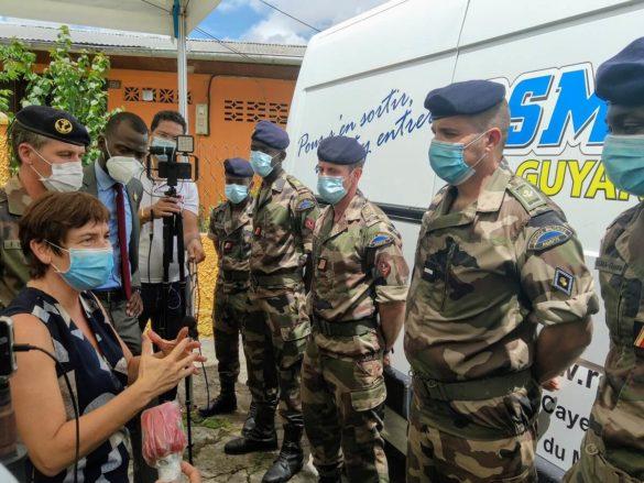 Visite Annick Girardin au RSMA Guyane