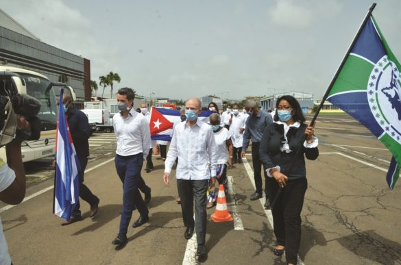 Arrivée médecins cubains en Martinique