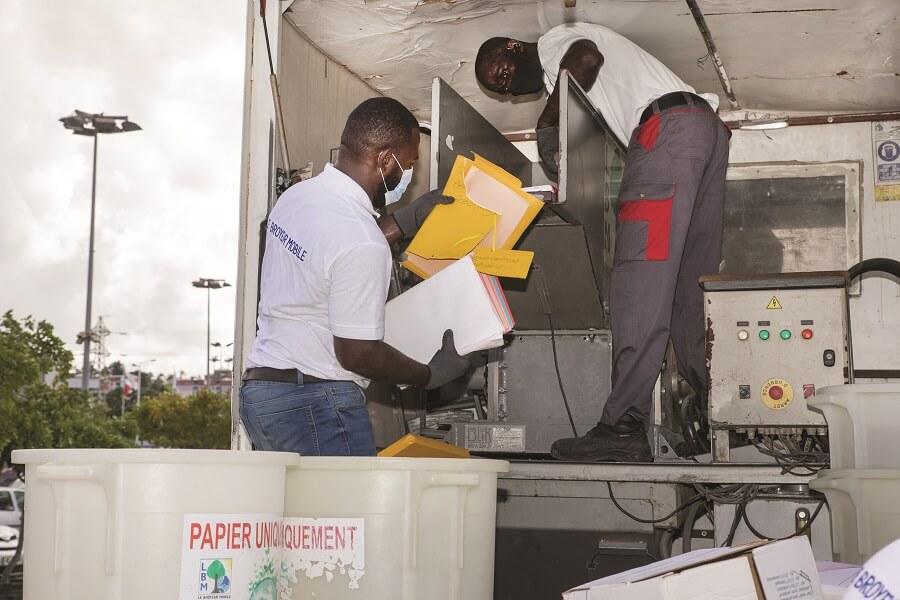Le Broyeur Mobile - destruction documents entreprise - Martinique, Guadeloupe
