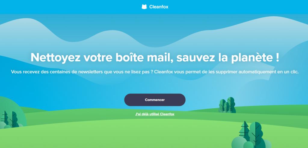 Capture d'écran Cleanfox