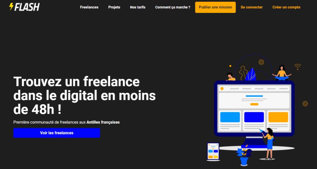 Flash - plateforme freelance Antilles-Guyane
