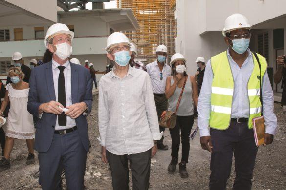 Visite chantier Lycee Schoelcher - CTM - Martinique