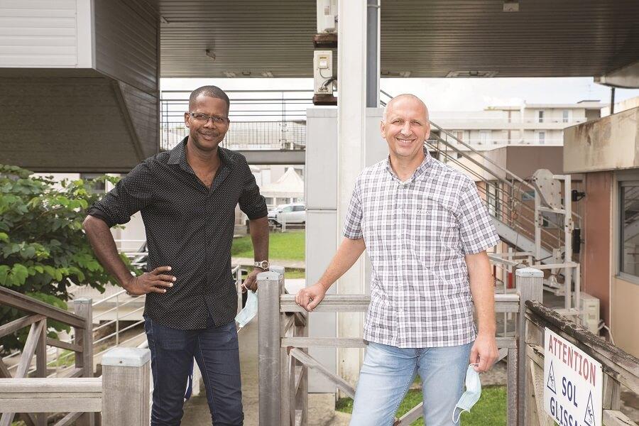 Cyrille Liroy et Laurent Brino - chargés de la mobilité durable - DEAL Martinique