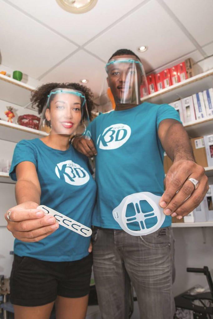 Supports 3D pour masques - Estelle Hilaire et William Caster
