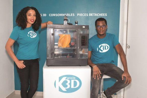 Estelle et William - créateurs de Karaib 3D Martinique