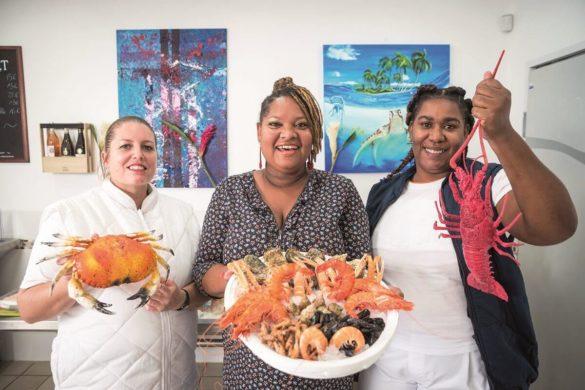 Laurence Gemin et son équipe - Le Palais de la Mer - Poissonnerie en Guadeloupe