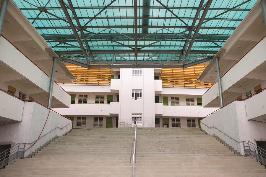 Escalier central - Lycée Schoelcher - Martinique