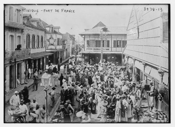 Rue de Fort-de-France - photo noir et blanc