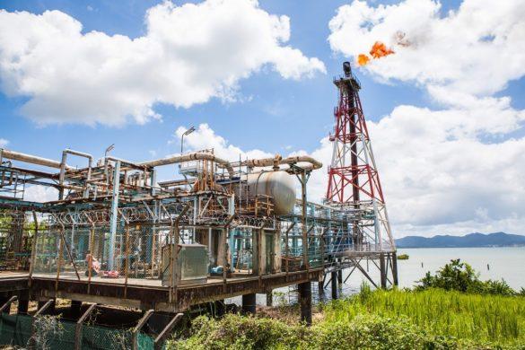 Installations de la SARA - raffinerie Martinique