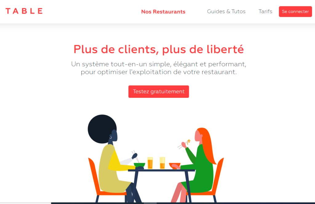 Table - logiciel de gestion pour restaurateurs